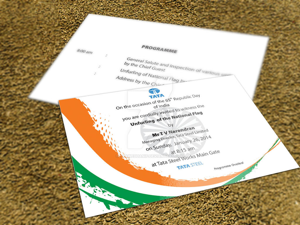 Republic Day Invitation By Jaawedhanif On Deviantart