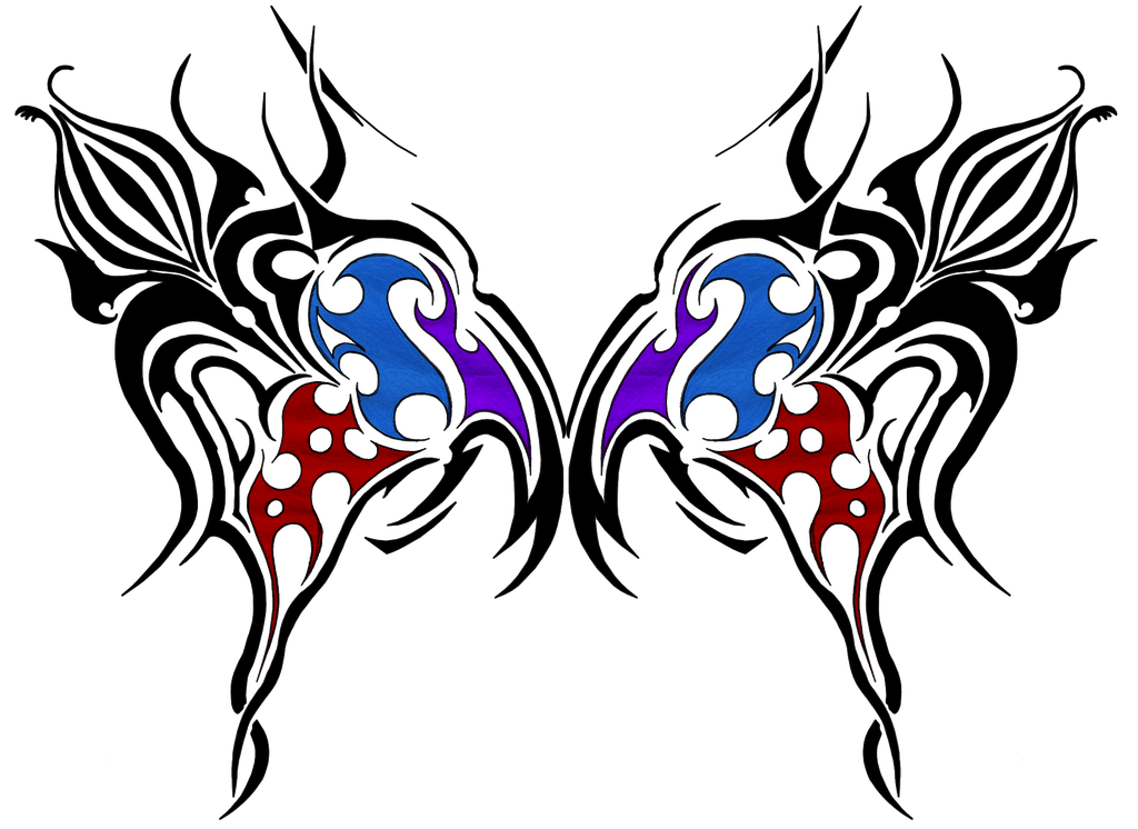 tribal butterfly tattoos - 1024×746