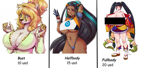 [CLOSED] Commissions Paypal only [nsfw/sfw] by PinkKoffin