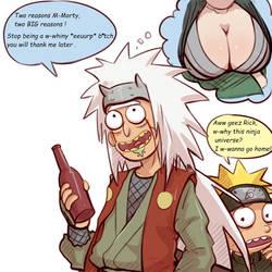 ''Two reasons '' Rick and Morty x Naruto