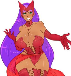 PR Dana cosplaying Scarlet witch -oc-