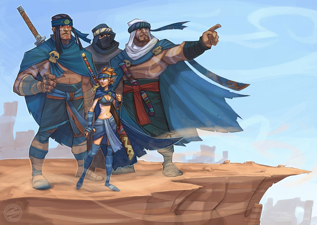 The Barbarians by zazB