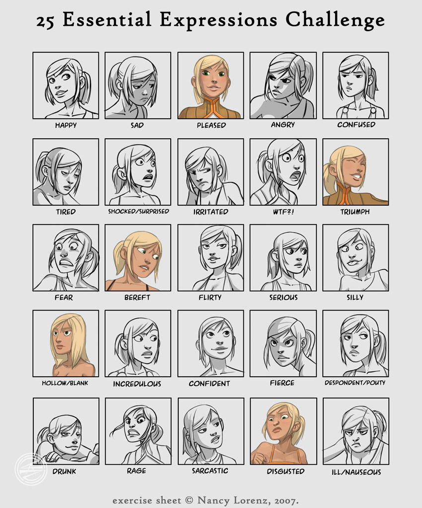 Cool Illustrated Facial Expressions