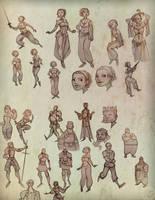 2009 sketches Nevhna by zazB