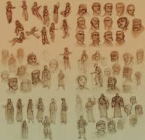 2009 sketches Nevhna and King by zazB