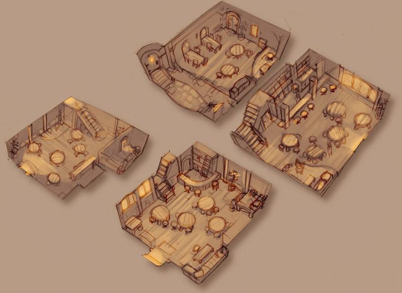 2010 sketches - The Inn by zazB