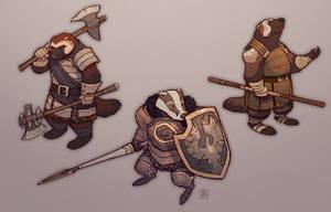 Badger Lancer and Wolverine Warriors