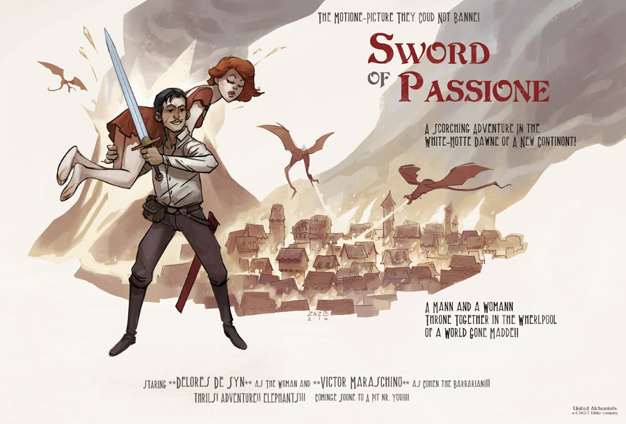 Discworld fan art - Sword of Passione by zazB