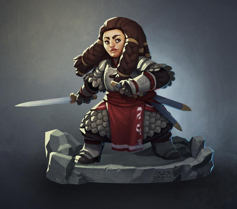 The Dwarf Captain by zazB