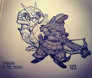 Dragon of the Moon by zazB