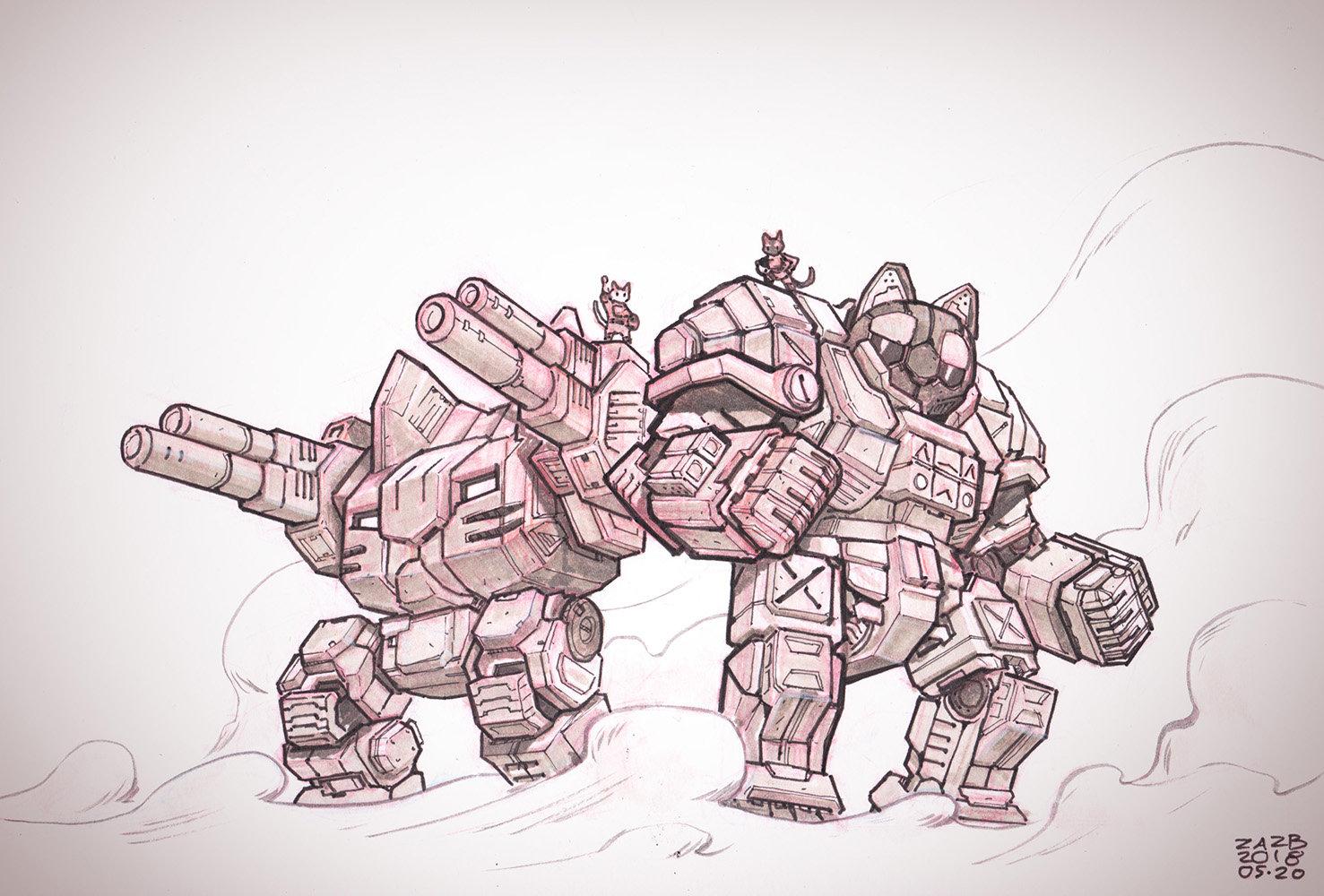 BattleMecats by zazB