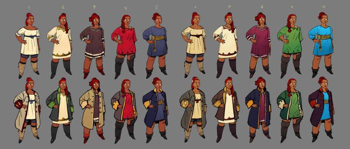 Nevhna - Costume research