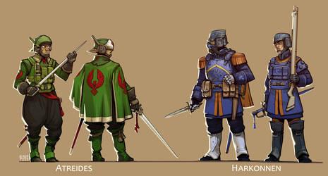 Dune - Atreides and Harkonnen