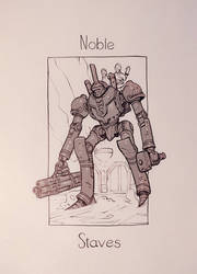 The Mechanical Arcana - Noble of Staves