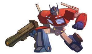 Optimus Prime by zazB