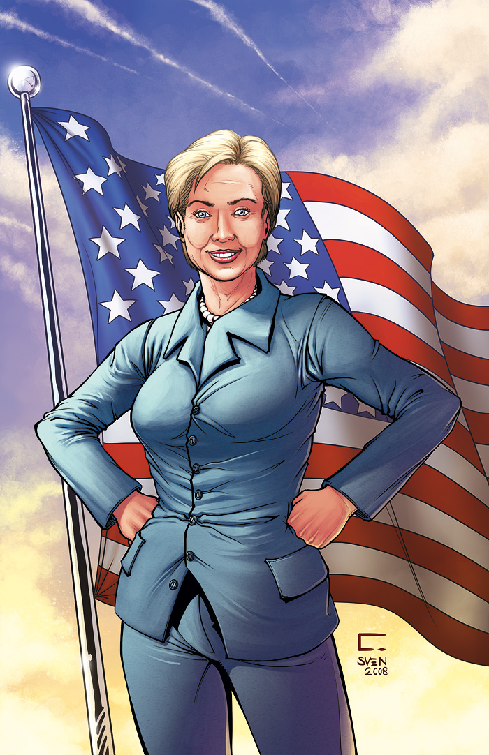 Hillary Clinton - Comic Cover by ChrisNoeth