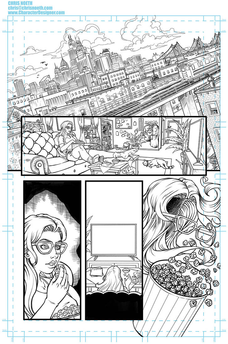 Sequential comic sample page by ChrisNoeth