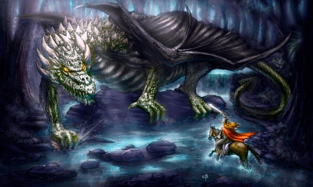Dragon Concept Art by ChrisNoeth