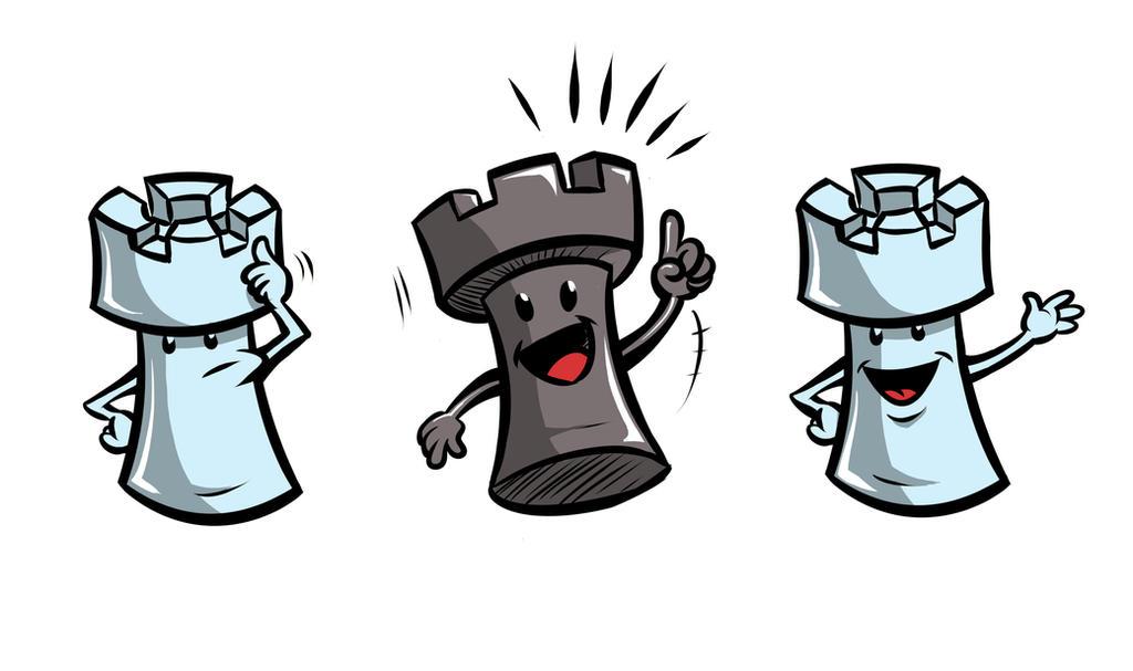 Cartoon Chess Pieces by klaatu81