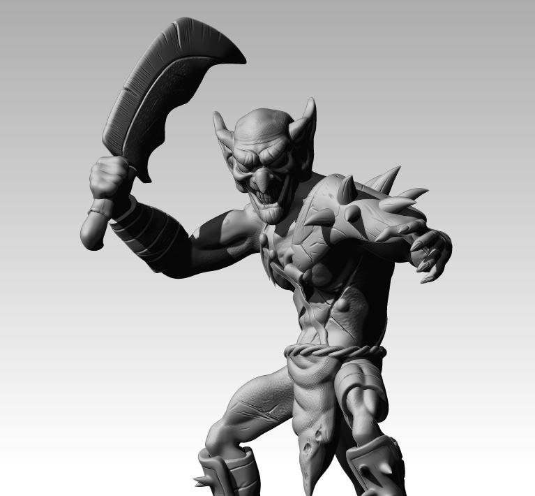 Goblin Warrior by klaatu81