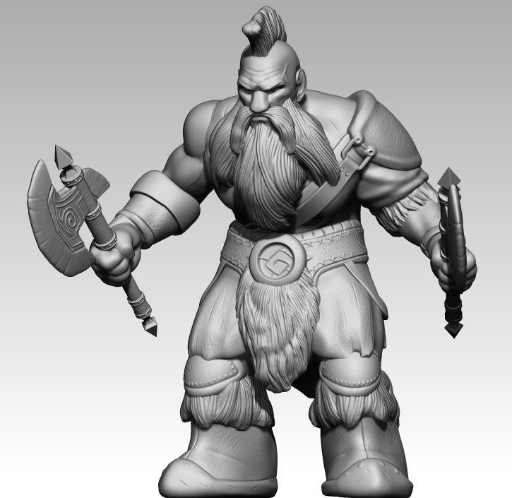 Dwarf  Warrior by klaatu81