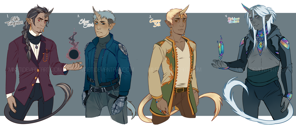 [Adopt Auction: Ended] Unicorn boys by Mineiti