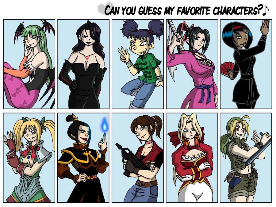 Favorite characters meme by Niban-Destikim