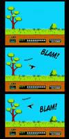 8-bit Gamer Luna - Duck Hunt by Niban-Destikim