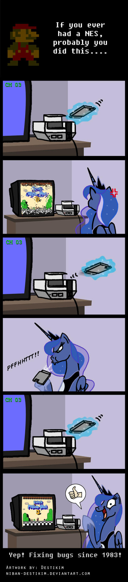 8-bit Gamer Luna - Blow it by Niban-Destikim