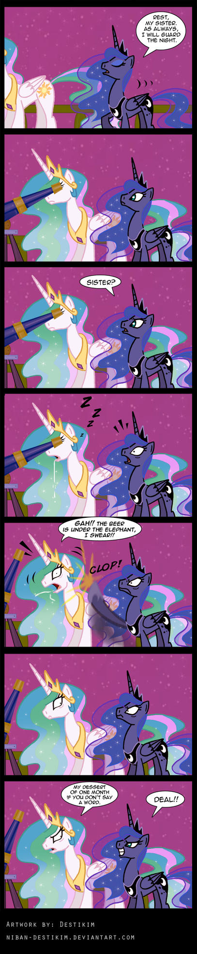Celestia always on Duty by Niban-Destikim