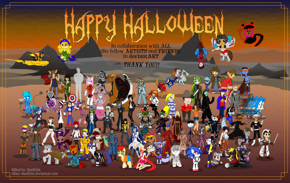 The Hallowen Collab!! by Niban-Destikim
