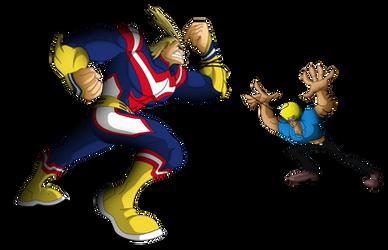 Commission: Bobobo vs All Might by Niban-Destikim