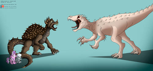 Commission: Anguirus Protection by Niban-Destikim
