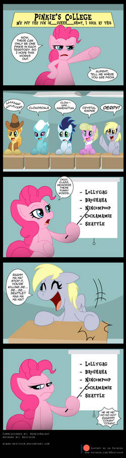 Commission: Pinkie's Pinkie College