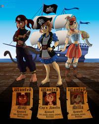 Commission: Pirate Amelia by Niban-Destikim