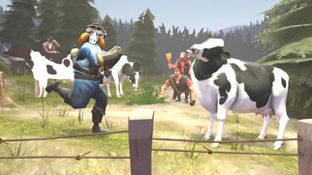 [SFM Gift] Rugbyoshi meets cow