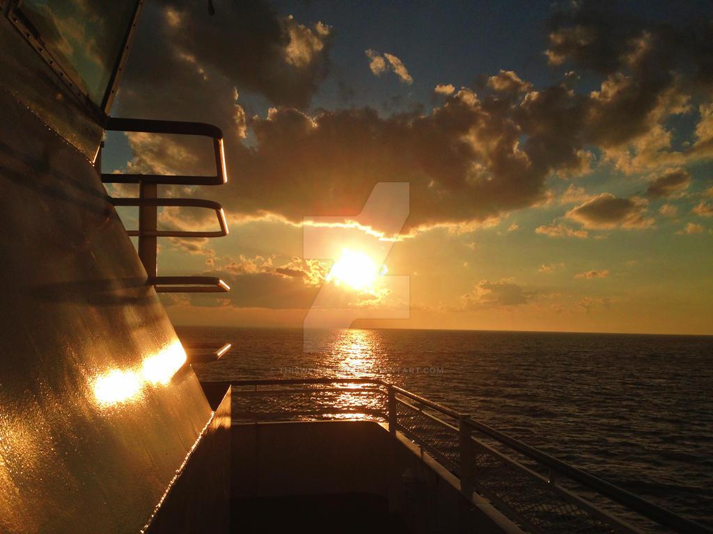 Sunset Farry by thisweirdnerdd