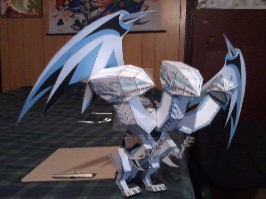 Blue-Eyes Ultimate Dragon PaperCraft by SuperVegeta71290