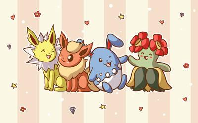 Commission - Pokemon group