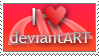 I Heart deviantART Stamp by spud100