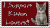 I Support Kitten Lovers STAMP by shortcutebubbly