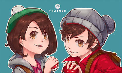 Pokemon Sword and Shield Trainers by Allen-Parhelion