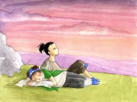 Regarder les nuages... by Diabolo-menthe