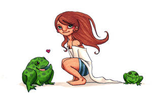 Little Princess of Frogs by Diabolo-menthe