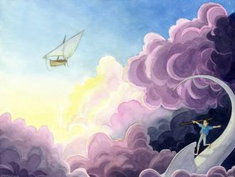 Des nuages au levant by Diabolo-menthe