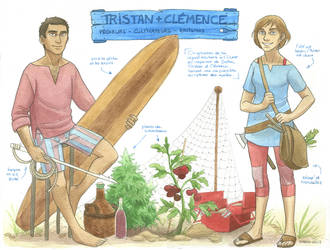 Chara sheet - Tristan and Clemence by Diabolo-menthe