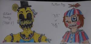 Golden (FNAF 2) y B.B.