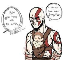Dad of War - Sketch by tejedora