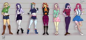 (Hu)Mane 7 - Equestria Girls