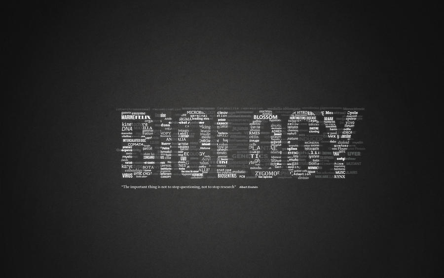 Biology Typography By VenustraphobiaMe